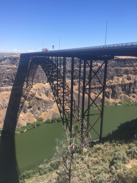 Perrine bridge across the Snake river in Twin Falls