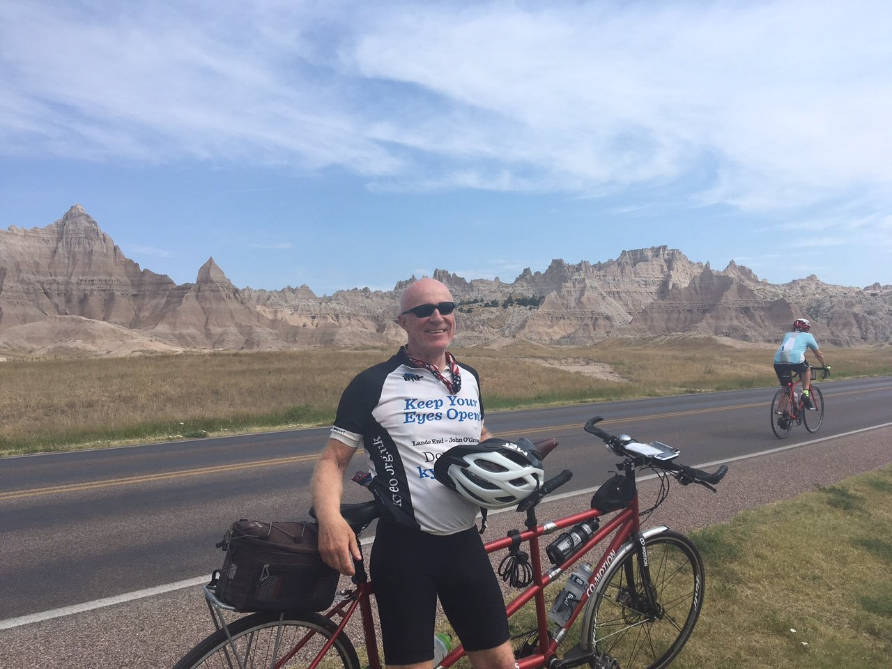 Chris in Badlands national part, South Dakota