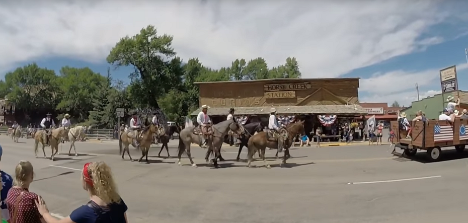 Horses in the Dubois Independence Day parade