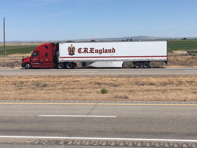 Huge truck saying England on the side