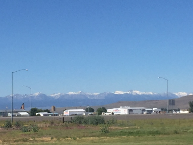 The Idaho Rocky Mountains seen from Baker City, Or